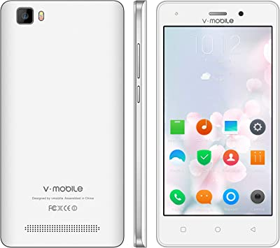 Moviles Libres Baratos 4G,8Pcs V Mobile A10 5.0 Pulgadas 8GB ROM 5MP Cámara Doble Sim 2800mAh Batería Android 7,0 Smartphone Telefono Movil Libres Baratos 1.3GHz Quad Core (Blanco): Amazon.es: Electrónica