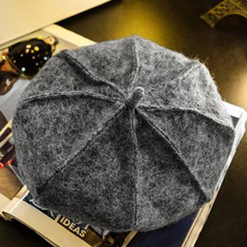 Otoño e invierno Moda Mantener caliente Frío Sombrero de fieltro Modelos femeninos adulto sombrero , gray