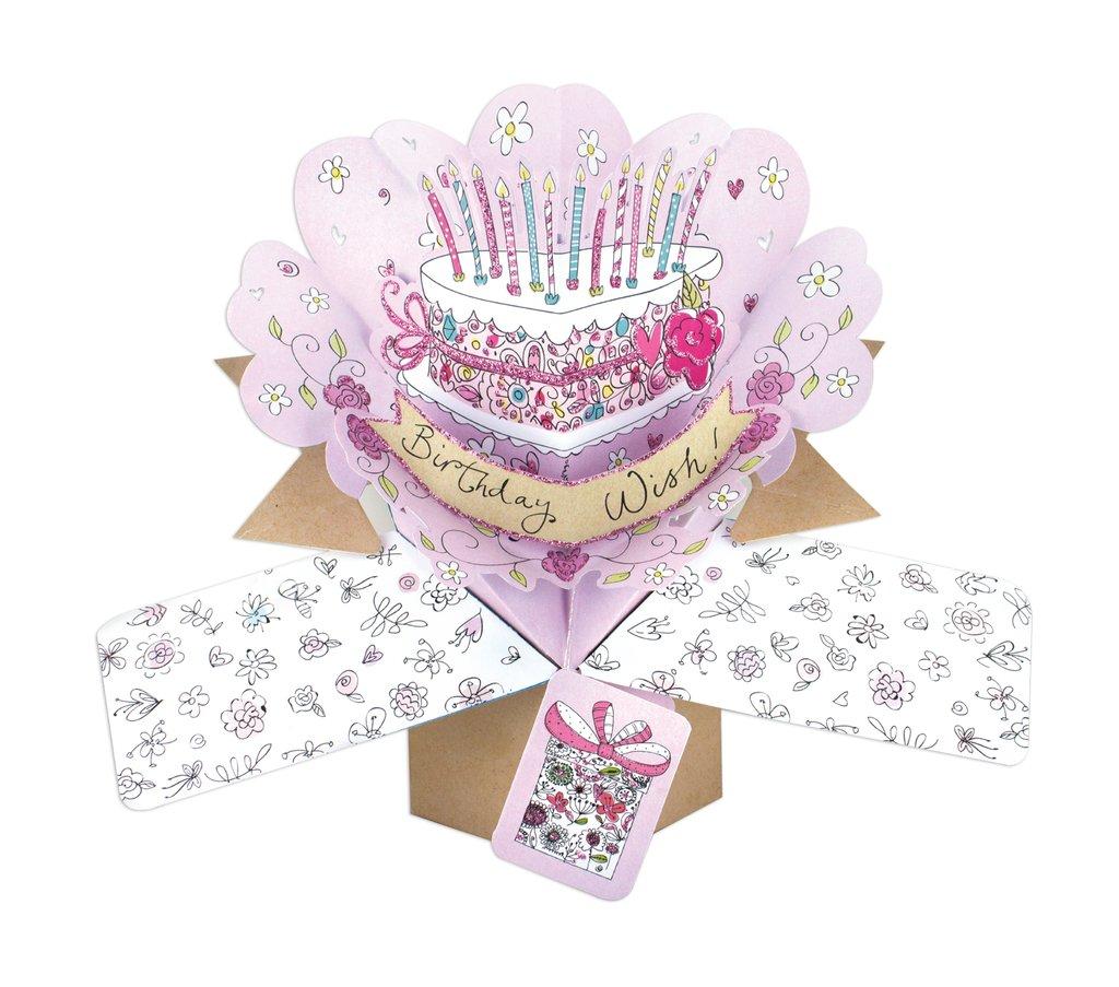 Second Nature pop UPS Birthday pop up con scrittaAuguri di compleanno e torte Second Nature Ltd POP129A