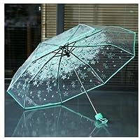 Parapluie de voyage léger anti-UV transparent avec fleurs Westeng