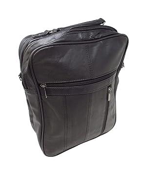 outlet on sale new design running shoes ZAZA Large Black Leather Cross-body Shoulder Holster Travel Utility Bag