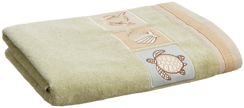Avanti Sandpiperバスタオル Bath ホワイト 17691SAG B004IEB2YW セージ Bath
