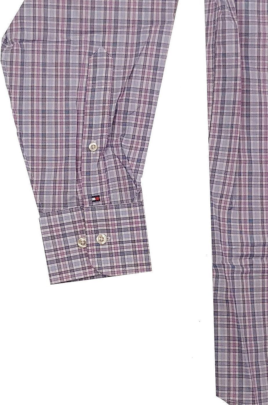 Tommy Hilfiger Mens Regular Fit Spread Collar Long Sleeve Dress Shirt