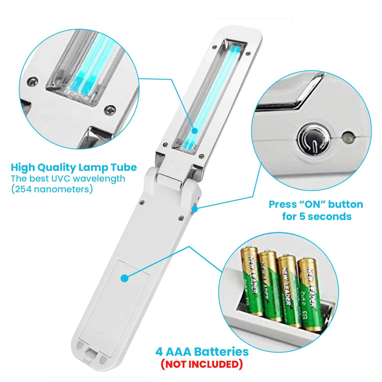 1 Pack Reisen Unterw/äsche UVC Sterilisation Desinfektionsbeutel Tragbarer 270NM UV Sterilizer Box USB-Aufladung UV Sterilizer Reinigungsbeutel 99/% sauberer Kulturbeutel f/ür Schmuck