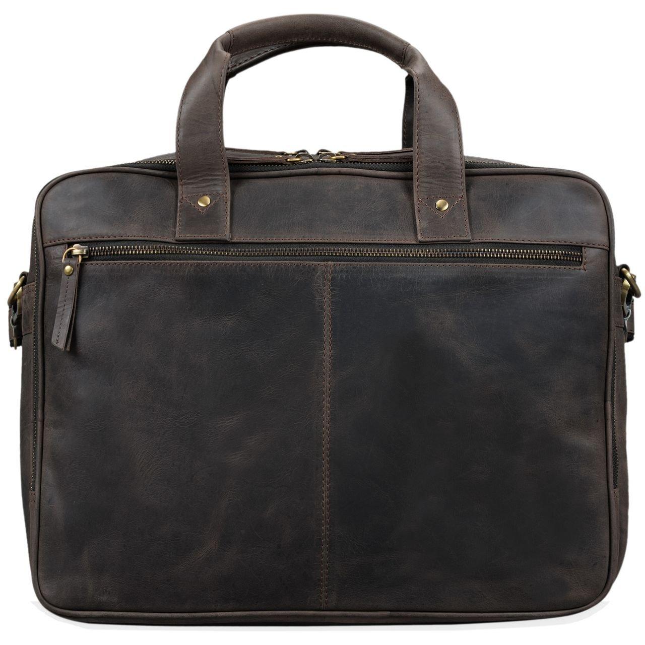 STILORD Vintage Business Bag Leather Walt 20 Liters Colour:Dark Brown