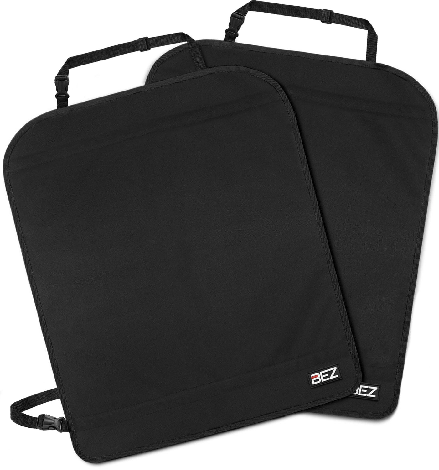 BEZ Kick Mats Kids Car Seat Back Protector Cover [2 Packs], 600D Material, Black Number One International