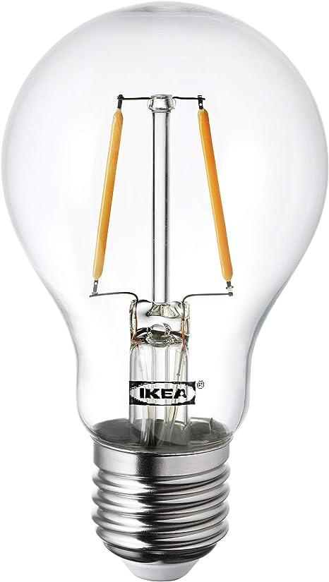 LUNNOM drop shaped clear, LED bulb E27