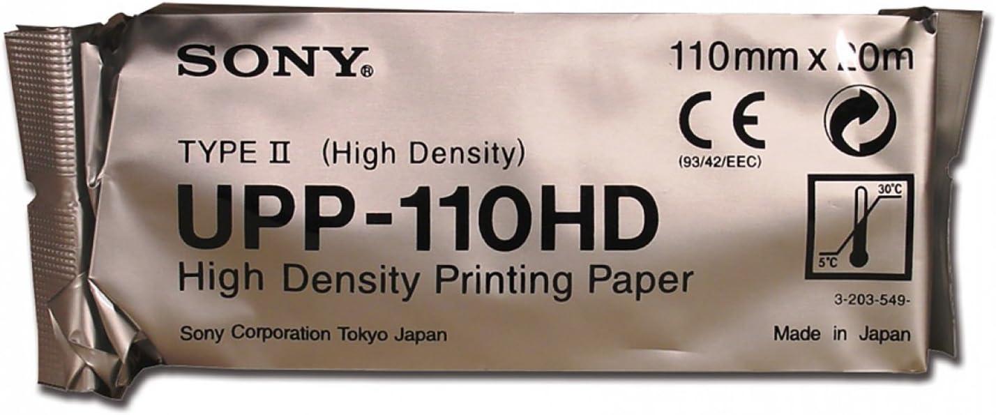 10Rollos de papel Sony para impresora térmica Ecografica upp-110hd–Original