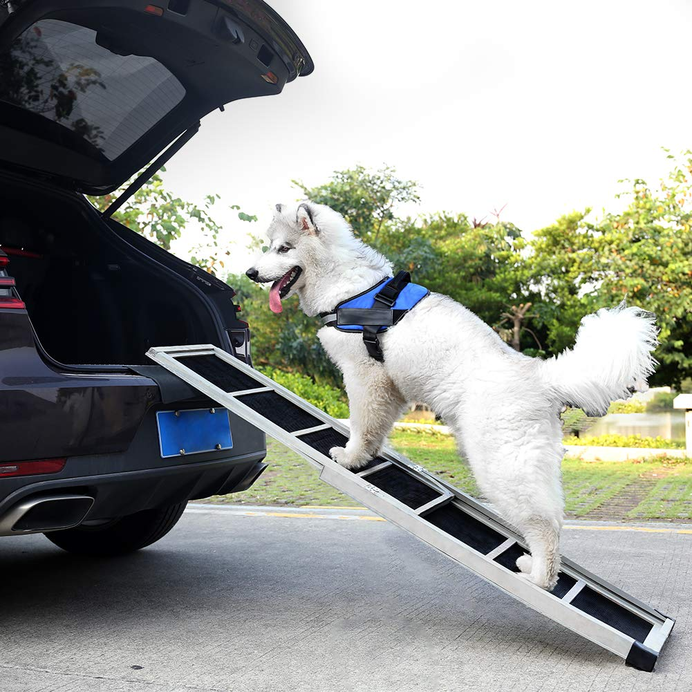 VPCOK Dog Ramps for Large Dogs SUV, Portable Car Ramps for Dogs, Supports 150-200 lbs, 63 inches Long
