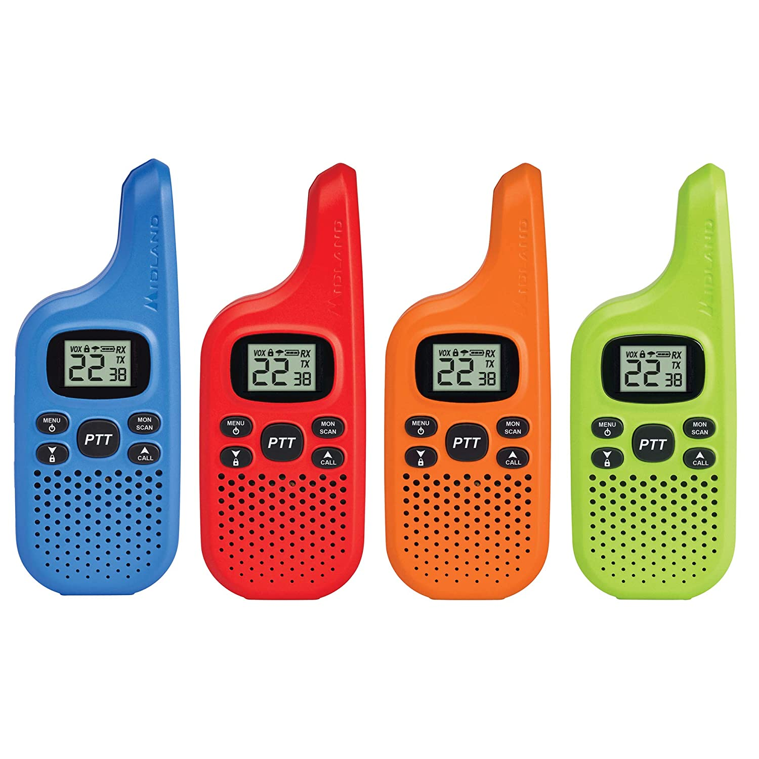 Midland T20X4 22 Channel GMRS up to 16 Mile Range with Weather 4 Pack Midland Radio Corporation