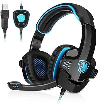 GHB Sades Auriculares Gaming Cascos con Microfono SA-901 Sonido ...