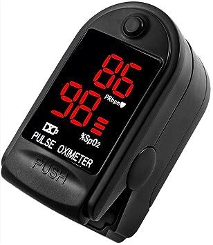 AVAX 50DL - Oxímetro de pulso de dedo - %SpO2 (saturación de oxígeno en sangre) & Monitor ...