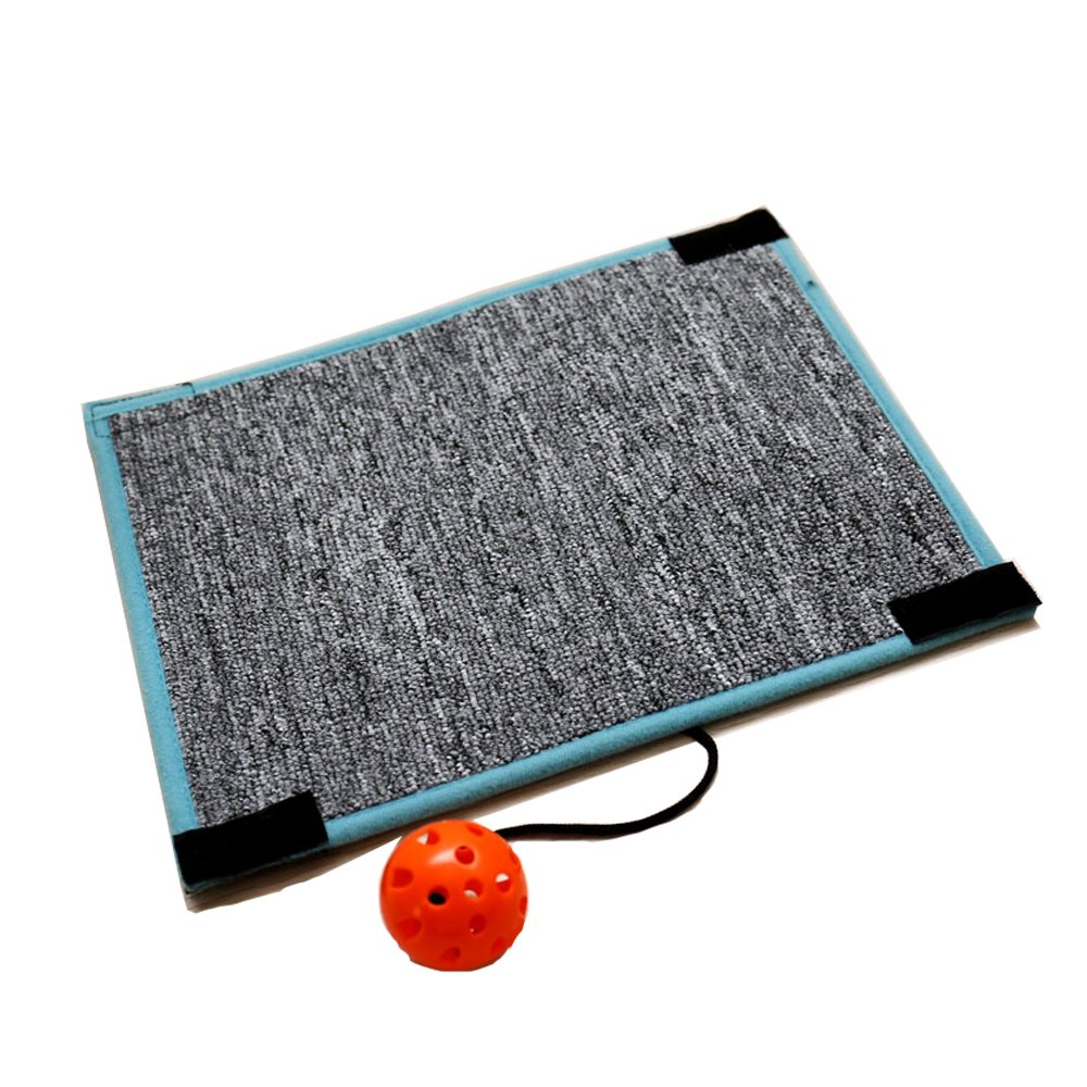 Blessed family Cat Scratch Mat, Cat Scratcher with Bell Ball, Kitten Carpet to Prevent Furniture Scratching Suitable for All Ages Cat Scratching Posts 1 Piece Cat Scrartcher with Bell Ball