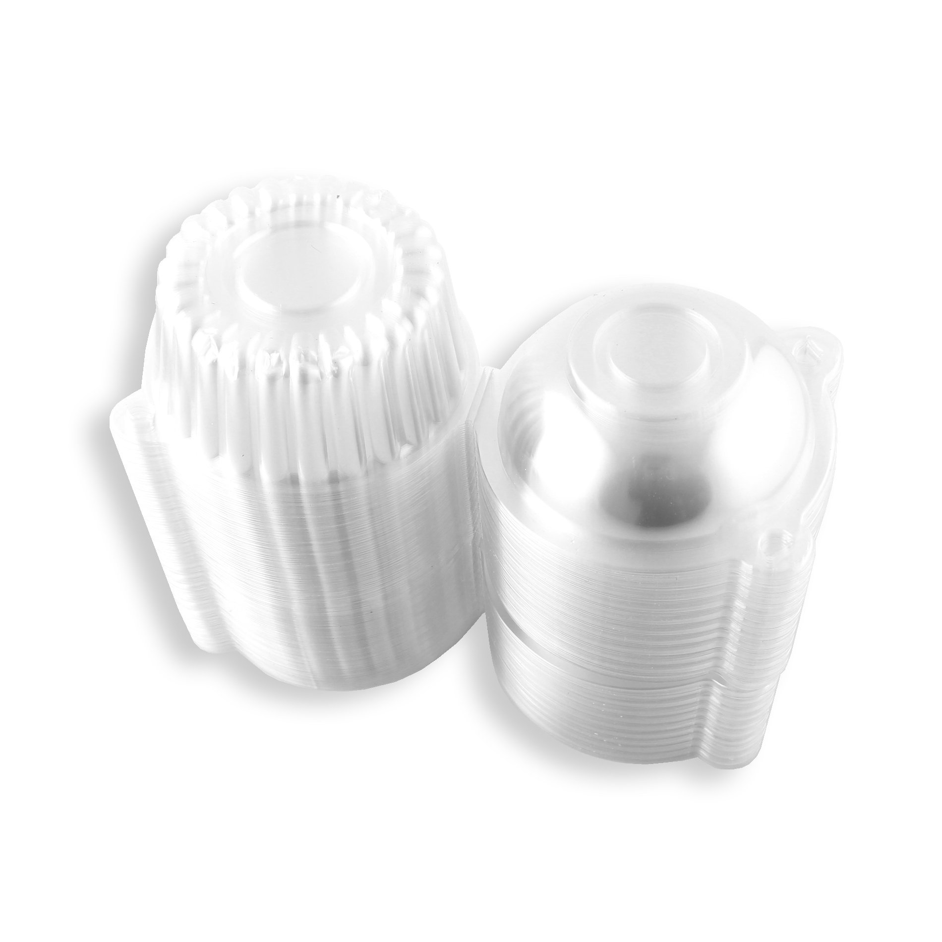 100pcs Clear Plastic Cupcake Cake Muffin Case Dome Holder Box Container by IDS (Image #3)