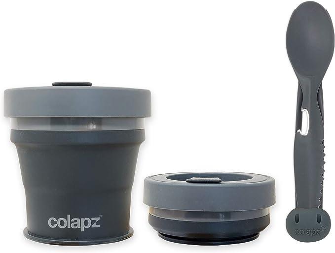 Colapz 7-in-1 Set Cubiertos Camping - Camping Accesorios - Utensilios Cocina Camping - Porta Cubiertos para Llevar al Trabajo - Acampada Accesorio - ...