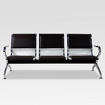Nuevo 3 asiento banco aeropuerto resistente silla de sala de espera ...