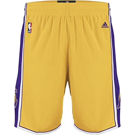 PANTALONCINI ADIDAS NBA LOS ANGELES LAKERS SHORTS BASKETBALL (GIALLO ... 15465ffcd83f