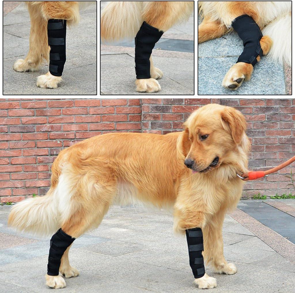 Qiuxiaoaa 1 Pair Pet Multi-function Leggings Knee Pads Waterproof Rain Boots Legs Brace Pet Knee Hock Protector Dog Pad