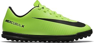 buy online 8fff8 5f019 Nike Jungen Mercurial Vortex Iii Tf Fußballschuhe, Grün (ELECTRIC  Green/Blk-Flsh