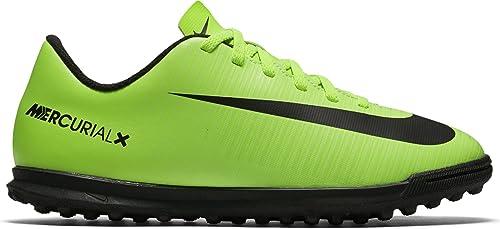 Nike Jr Mercurialx Vortex III TF, Botas de fútbol Unisex niños, Verde (Electric
