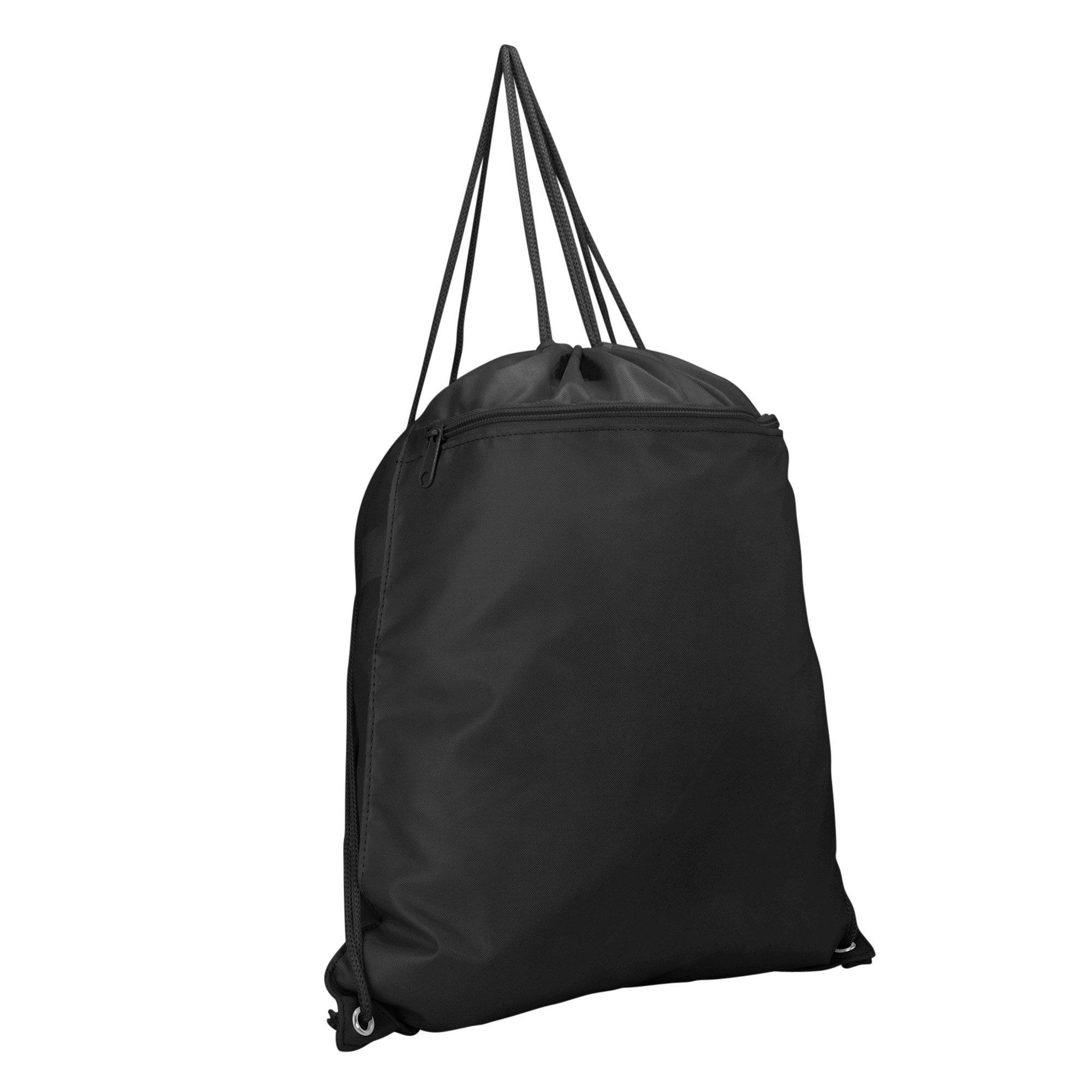 DALIX Sock Pack Drawstring Backpack Bag Sack in Black