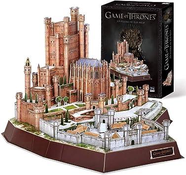 CubicFun Game of Thrones Puzzle 3D The Red Keep (Got) Modelo Kit Regalo para Adultos y niños Mayores de 8 años, Song of Ice and Fire, 314 Piezas: Amazon.es: Juguetes y juegos