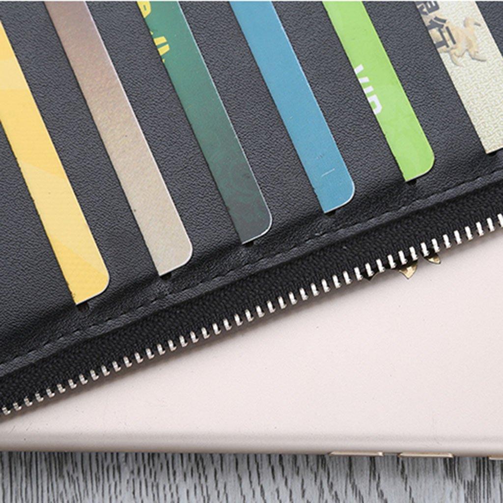 Tarjeteros Paquete de tarjeta de delgada de tarjeta los hombres paquete de tarjeta de varias tarjetas paquete de tarjeta de visita de titular de la tarjeta de titular de la tarjeta de larga duración simple cremallera ( Color : Azul ) ca2c01
