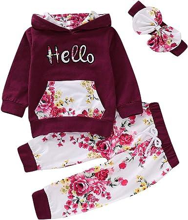 puseky Conjunto de Trajes de chándal con Capucha Hola Floral para ...