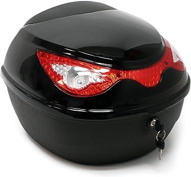 Top Case 22l Schwarz Koffer Für Roller Motorrad Oder Quad 22 Liter Helmkoffer Motorradkoffer Auto