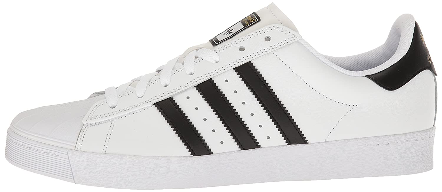 adidas Originals 10.5 Men's Superstar Vulc Adv Shoes B016PACHEU 10.5 Originals M US|White/Core Black/White 108865