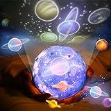 Luz nocturna de proyección TYC Galaxy, iluminación LED, luz nocturna, estrellas, universo giratorio de 360 grados, con proy