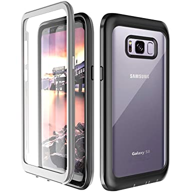 size 40 f20ab 6bb87 Samsung Galaxy S8 Case, 360° Protection Full-body Rugged Clear ...
