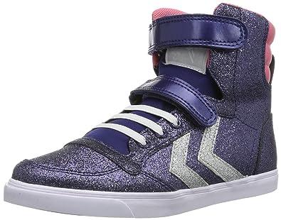 6411b1d5195 hummel HUMMEL SLIM STADIL GLITTER HG 63-648-7429, Unisex-Kinder Sneaker