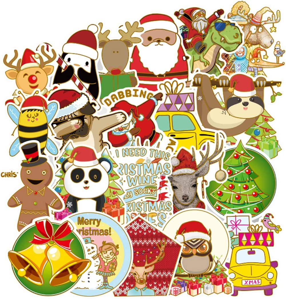 PPOGOO Christmas VSCO Big Cute Vinyl Stickers for Water Bottle, Laptop, Phone, Teens, Kids, Girls, Trendy, Aesthetic, Decals, Hydroflask, Waterproof, Cool, ?53PCS?