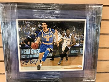 994946c81fd Image Unavailable. Image not available for. Color: JSA Authentic LONZO BALL  Rookie Autograph Custom Framed UCLA Bruins ...