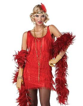Disfraz Charlestón rojo mujer - M: Amazon.es: Juguetes y juegos