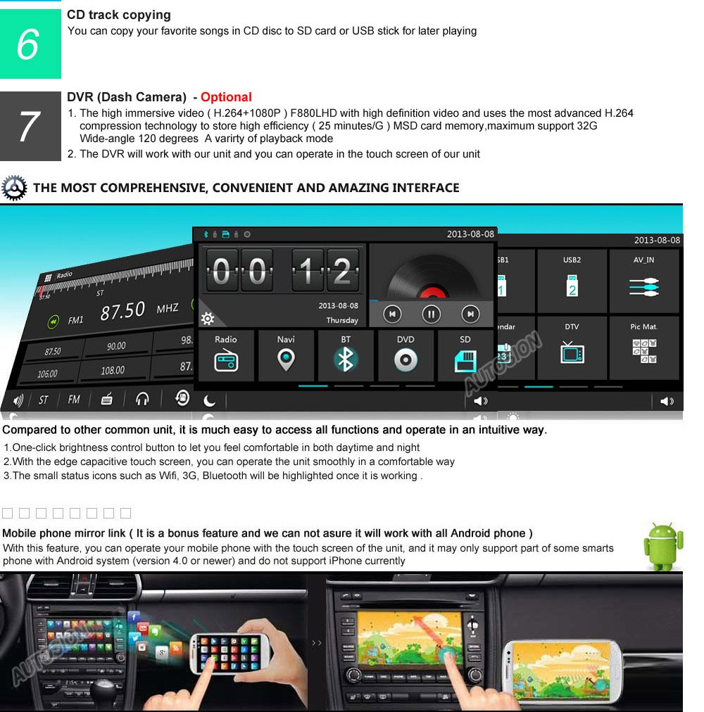 Witson Car Dvd Gps Navigation Radio Navi Sat Headunit 2014 Ford Focus Stereo Upgrade Electronics