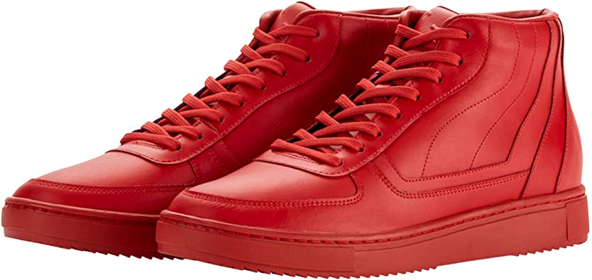 ROOY DEKADE RED Leather Mid Top