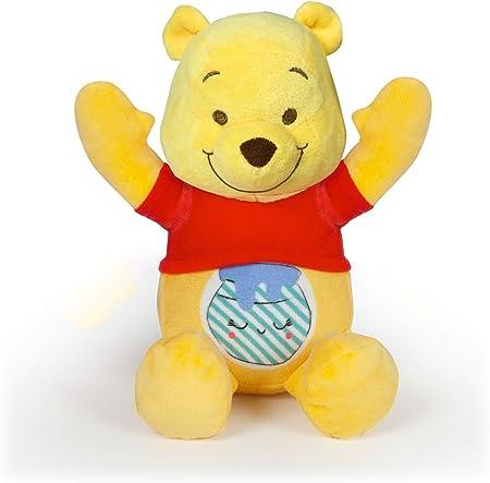 Juguete en español,Con su barriguita luminosa, este adorable peluche Winnie the Pooh transmite al ni