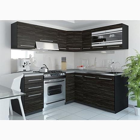 JUSThome, Torino IV L, cucina ad angolo con moduli, 190 x ...