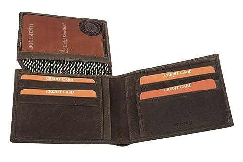 Cartera hombre LUIGI BENETTON marrón en cuero portatarjetas de crédito A4757: Amazon.es: Zapatos y complementos