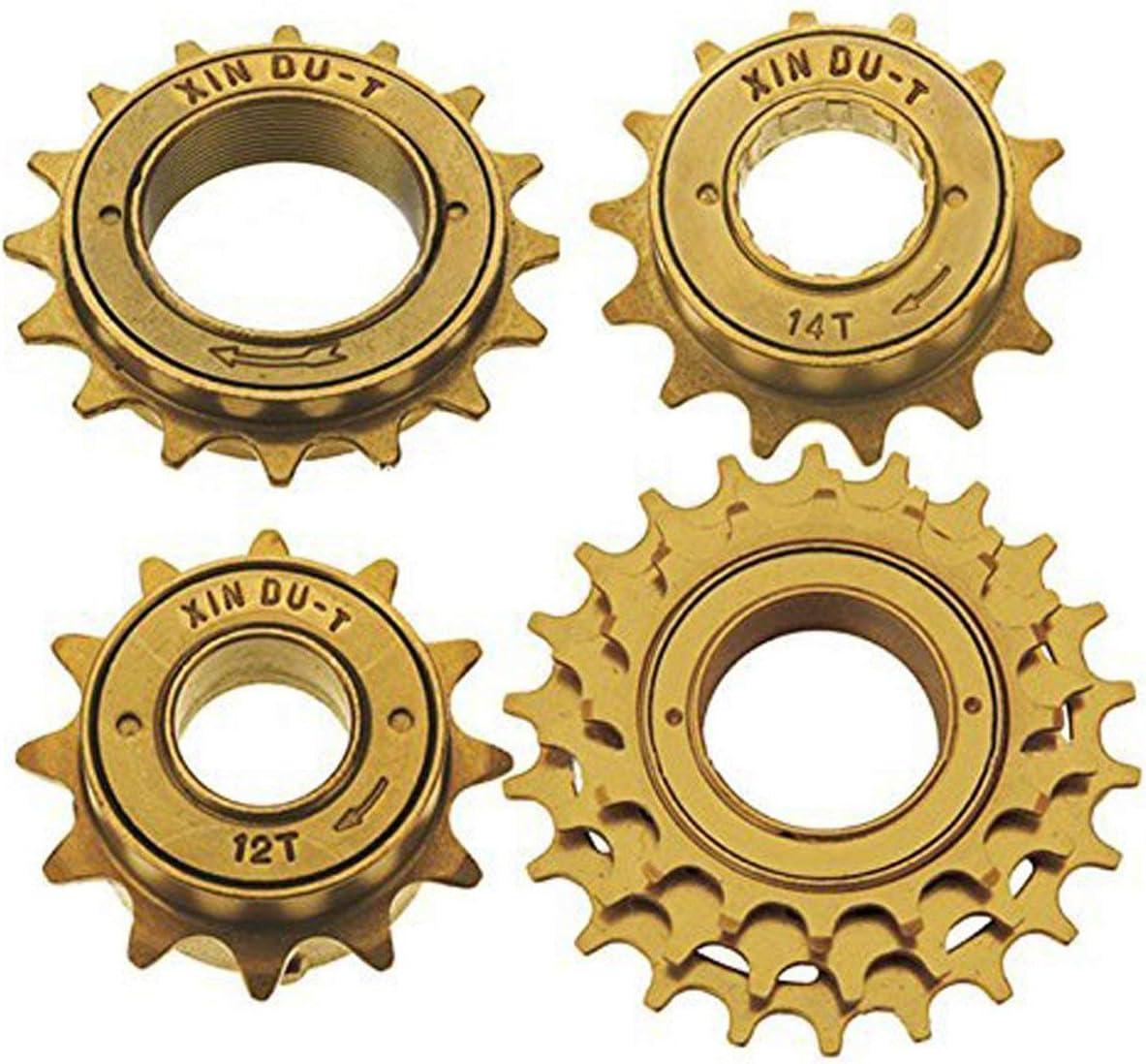COEWSKE Pi/ñ/ón de Volante para Bicicleta de una Sola Velocidad 12T 14T 16T y 3 velocidades