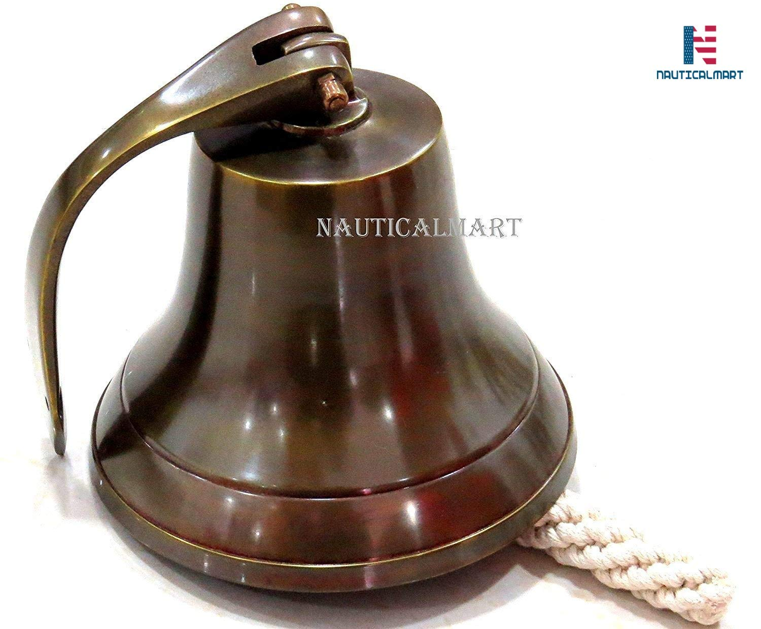 NauticalMart 6'' Nautical Aluminum Ship Bell with Antique Finish Beautiful by NauticalMart