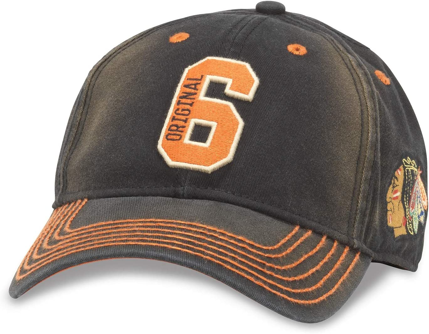 American Needle NHL オリジナル 6チーム U2 スクエア アンティーク調 ウォッシュ加工 調節可能な帽子