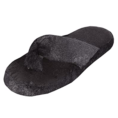 4a1cfb2ae93 Forever Dreaming Ladies Memory Foam Soft Toe Post Slippers  Amazon.co.uk   Shoes   Bags