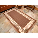 New Non Slip Heavy Duty Kitchen Mats Utility Brown Washable Rugs