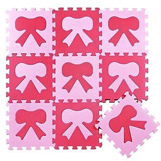 LFY Tappetino da Gioco per Bambine, Tappetino per Muffin Rosa Baby