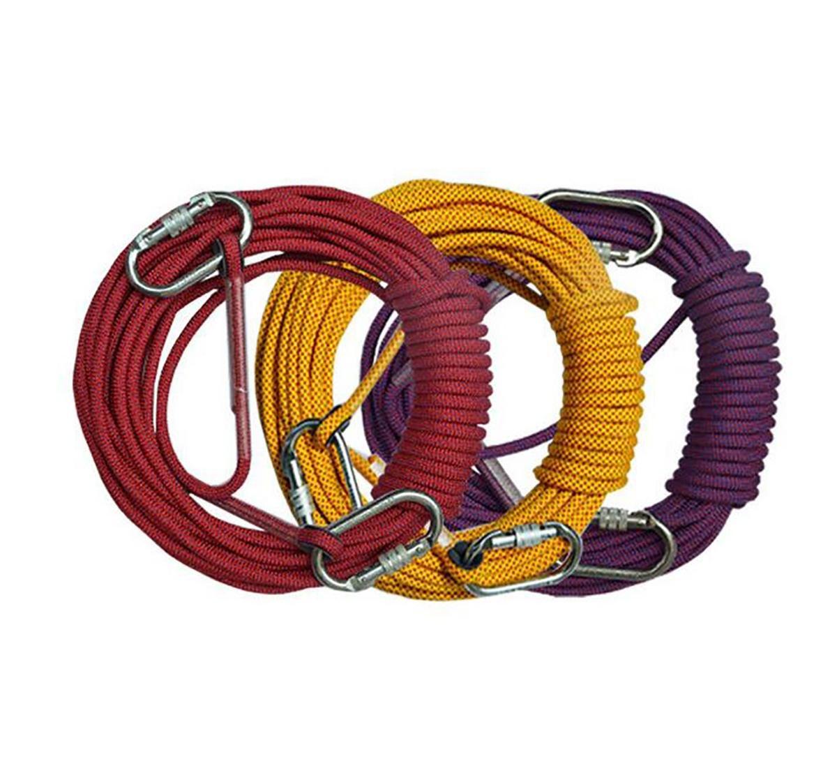 10.5 MM安全ロープ特殊ロープ空調インストールツールスタティックロープポリエステルナイロン レッド 80m