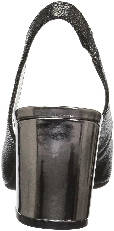Anne Klein Women's Maurise Peep Toe M Sling-Back Pump B07BL6CQXJ 6.5 M Toe US|Pewter Reptile 1fdbcf