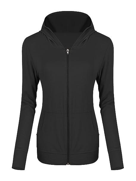 68b427b85 Urban CoCo Women s Zip Hoodie Sweatshirt Lightweight Active Jacket ...